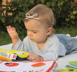 baby playing learning game